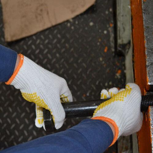 0003 dotted industrial work gloves/bleached gloves - Baymro